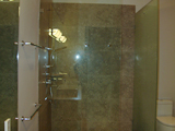 Frameless Shower door with Frosted Panel